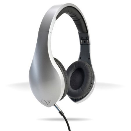 VELODYNE vLeve On-Ear Headphones Satin Silver Silver/gray