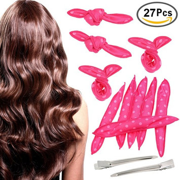 TecUnite 25 Pieces Flexible Foam Sponge Hair Curlers No Heat Soft Rollers Hair Styling DIY Tool with 2 Pieces Hair Clips : Beauty