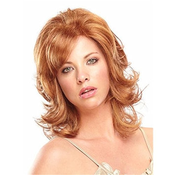 Medium Wavy Wigs Auburn Facinating Wigs for Women Natural Heat Resistant Synthetic Hair Wigs 20 inch