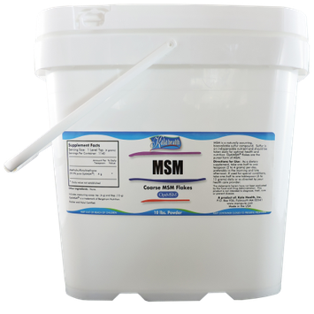 Kala Health - MSM Powder (OptiMSM) Coarse Flakes (10 Pound Container) - This Pure MSM Supplement is