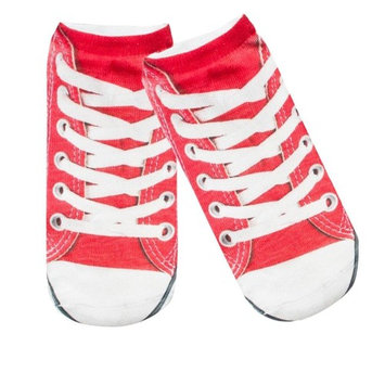 Hot Sale!Todaies Cute 1Pairs Comfortable Sock Slippers Printing Shoe Invisible Socks (19cm14cm, Red)