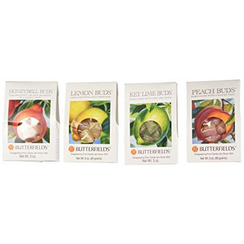 Butterfields Fruit Flavored Candy Buds Variety Pack of 4