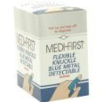 Medique Blue Metal Detectable Woven Knuckle Bandages 50/Box