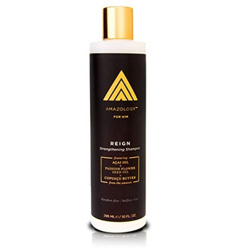 Amazology Reign Hair Thickening Men's Shampoo - Antioxidant Rich Botanical Sulfate Free Hair Thickening Shampoo for Men