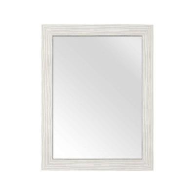 Cutler Kitchen & Bath 30 in. L x 23 in. W Framed Wall Mirror in Contour White