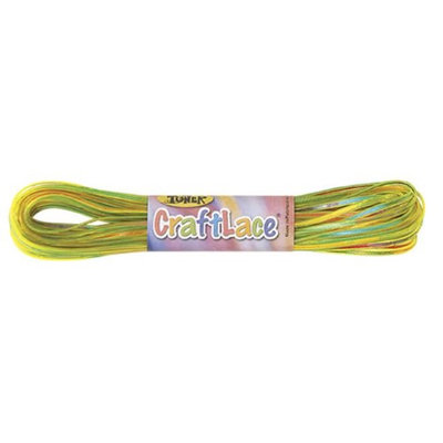 CraftLace Hank with Light Tie Dye Lemonlime - 9 yds - Pack of 24