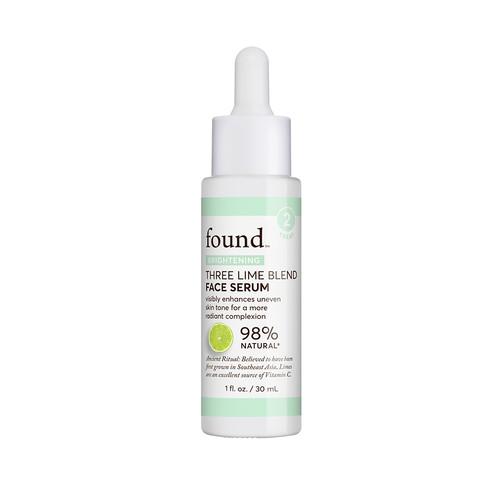 FOUND BRIGHTENING Three Lime Blend Face Serum, 1 fl oz