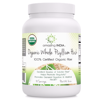 Amazing India Organic Whole Husk Psyllium
