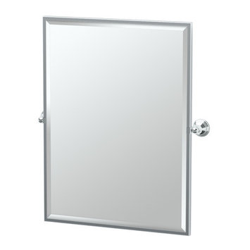 Gatco Charlotte 29 in. x 33 in. Framed Single Large Rectangle Mirror in Chrome