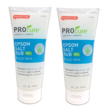 Profoot Inc (Set/2) Concentrated Epsom Salt Rub Gel For Muscle Tension Aches & Pain