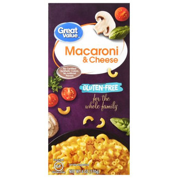 Wal-mart Stores, Inc. Great Value Gluten-Free Macaroni & Cheese, 6 oz