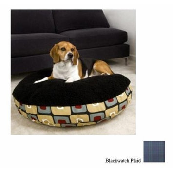 O'donnell Industries ODonnell Industries 93119 Small 24 in. Round Pet Bed with Black Sherpa Top - Bla