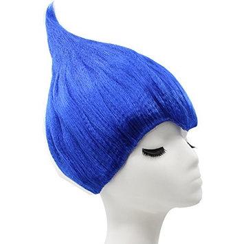 Anogol Hair Cap+Blue Princess Troll Wig Poppy Wacky Trolls Cosplay Wigs for Adults Kids