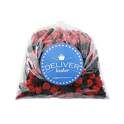 Deliver Kosher Bulk Candy - White & Blue Chocolate Lentils - 5lb Bag [White & Blue Chocolate Lentils]