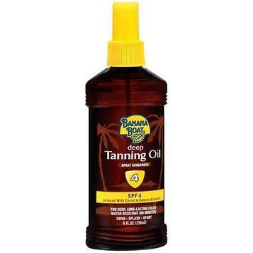 Banana Boat Deep Tanning Oil Spray Sunscreen, SPF 4 8.0 fl oz(pack of 2)