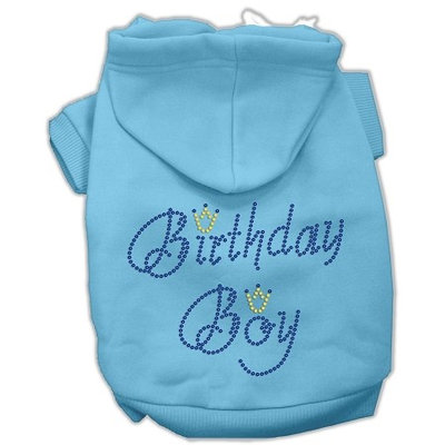 Mirage Pet Products 5410 XXXLBBL Birthday Boy Hoodies Baby Blue XXXL 20