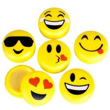 Emoji Lip Gloss For Kids - Six (6) Pieces Feature Emoticon Themed Lip Balms with Six Unique Designs - Great For Gifts, Classrooms, and Birthday Party Favors - By M & M Products Online