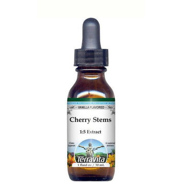 Cherry Stems Glycerite Liquid Extract (1:5) - Vanilla Flavored (1 oz, ZIN: 513320)