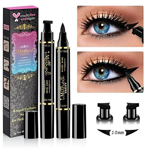 Wing Eyeliner Stamp - 2 Packs Left & Right Dual Ended Liquid Winged Eyeliner Stamp by iMethod, the Easiest Way to Get Perfect Winged Cat Eye Look,...