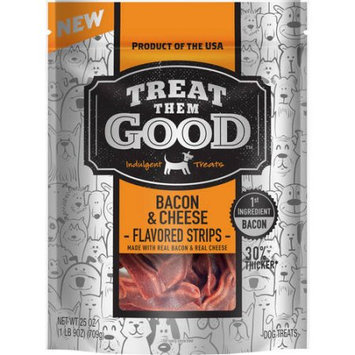 Treat Them Good Bacon and Cheese Flavor Strip, 25 oz