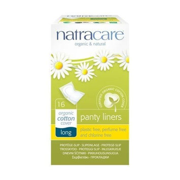 (4 PACK) - Natracare Panty Liners - Long Wrapped   16s   4 PACK - SUPER SAVER - SAVE MONEY: Health & Personal Care