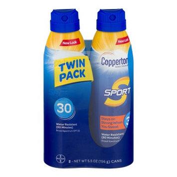 Bayer Healthcare Consumer Care Coppertone Sport Sunscreen Spray SPF 30 Water Resistant - 2 PK, 5.5 OZ