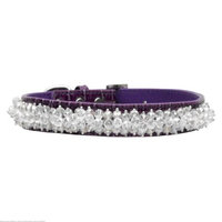 Mirage Pet Products 35-01 SMPR Faux Croc Beaded Collar Purple Small