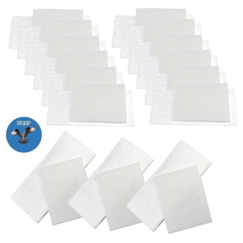HQRP Filter Kit for Miele S2 series S227, S227i, S230, S231, S232, S234, S236i, S240i, S247i, S262i, S269i, S270i, S278, S280i, S282i Canister Vacuum Cleaners + HQRP Coaster (Pack of 15)