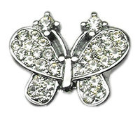 Mirage Pet Products 1020 38CL .38 in. Slider Butterfly Charm Clear .38 in.