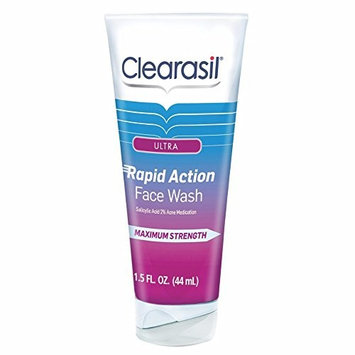 Clearasil Ultra Rapid Action Daily Face Wash, 1.5 oz. (Pack of 12)