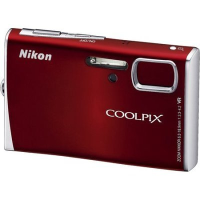 Nikon COOLPIX S52 9 Megapixel Digital Camera with 3x Optical Zoom, 3 High-Resolution LCD, Vibration Reduction Image Stabilization - Crimson Red