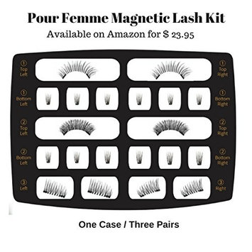 Magnetic Eyelashes 3 Pairs, 3 Magnets for FULL EYE Lash Extension, Reusable 3D False lashes with Applicator, Glue Free, No Damaging Effects Like Eyelash Curler, Natural Look, Beginners Lash Kit,