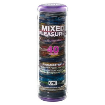 ONE Mixed Pleasures Condoms - 40 Count