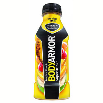 Body Armor Tropical Punch Sports Drink 16 oz Plastic Bottles - Pack of 12
