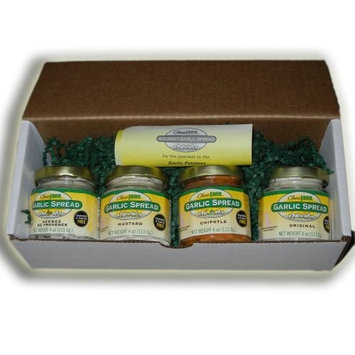 Chez Jane Garlic Spread (Herbes de Provence, Mustard, Chipotle and Original), 32-Ounce (Pack of 4)