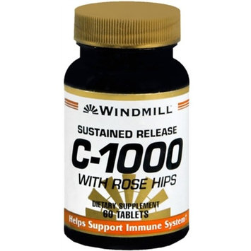 Windmill Vitamin C-1000 Tablets With Rose Hips Sustained Release 60 Tablets