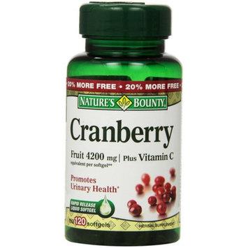 Nature's Bounty Cranberry Fruit 4200 mg, Plus Vitamin C Softgels, 120 ea