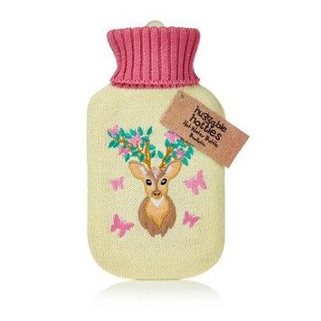 NPW Huggable Hot Water Bottle Winter Deer & Butterflies Huggable Knit Sweater 750ml