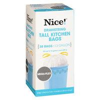 N'ice Nice! Drawstring Flexible Kitchen Trash Bags 13 Gallon 38.0 ea (Pack of 2)