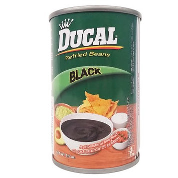 Ducal Refried Black Beans 5.5 oz - Frijoles Negros Refritos (Pack of 12)