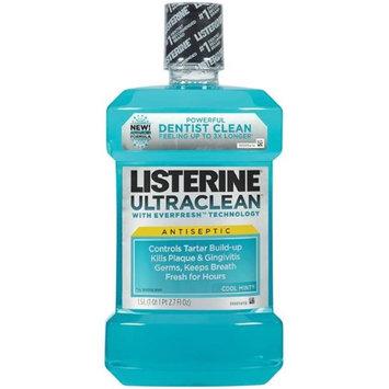 Johnson & Johnson JJC 42266 1.5 litre Listerine Ultraclean Mouthwash - Cool Mint 6 per Case