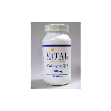 Vital Nutrients - CoEnzyme Q10 200 mg - CoQ10 - Potent Antioxidant and Free Radical Scavenger - 60 Capsules