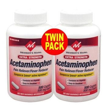 Member's Mark - Acetaminophen 500 mg, 1200 Caplets, Pain Reliever