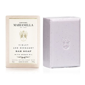 Violet and Bergamot Premium Soap Bar for Men and Women with Special Anti-Aging Formula (6 Oz)