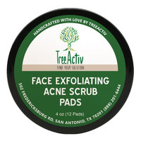TreeActiv Blackhead Face Scrub Pads - For Removing Stubborn Blackheads, Whiteheads and Dead Skin (4 Oz)