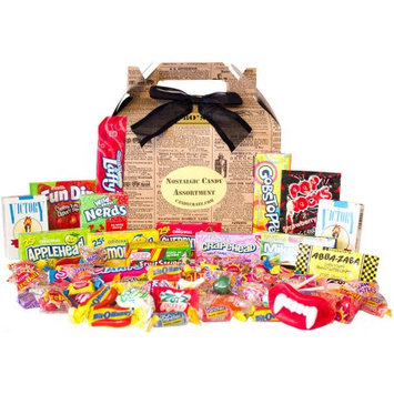 Candy Crate Newsprint 1980s Retro Candy Gift Box