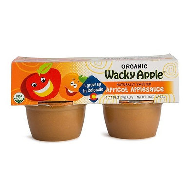 Wacky Apple BCA22501 Og2 Apple Sauce Apricot 6 x 4 Pack