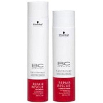 Schwarzkopf Bonacure Repair Rescue Shampoo (8.5oz) & Conditioner (6.8 oz) Duo