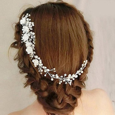 Missgrace Women's Rhinestone Crystal Headpiece Bridal Hair Comb Wedding Special Occasion Hair Combs