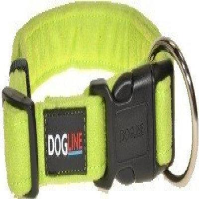 Dogline M8004-5 13-21 L x 0. 75 W inch Comfort Microfiber Flat Collar, Green